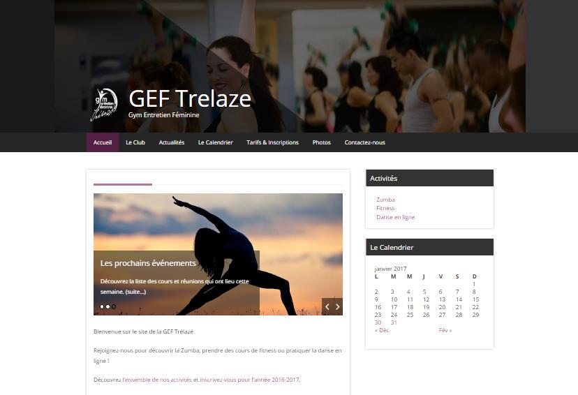 Site Internet GEF Trélazé - Porfolio Little Beez