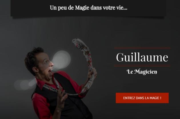 site internet de magie réalisé par l'agence web bretonne little beez